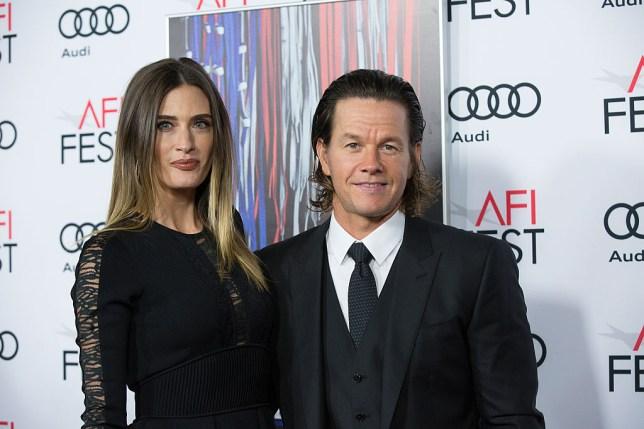 Mark Walhberg and wife Rhea Durham