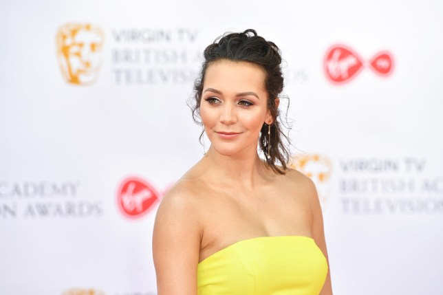 Hollyoaks actor Nadine Mulkerrin at the 2018 Bafta Awards