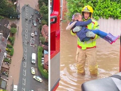 Rain brings devastation across northern England as major incident is declared