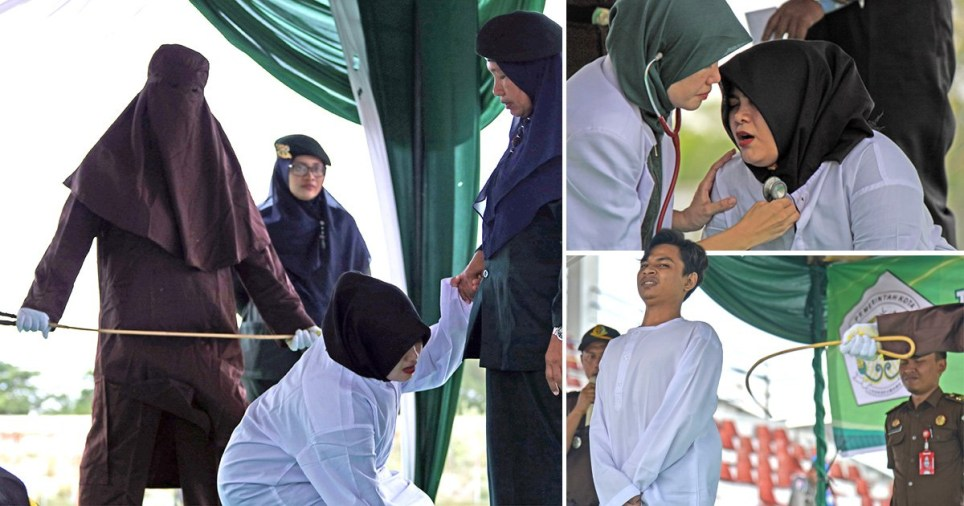 Aceh province whipping: Muslim woman caned in Indonesia by Sharia law