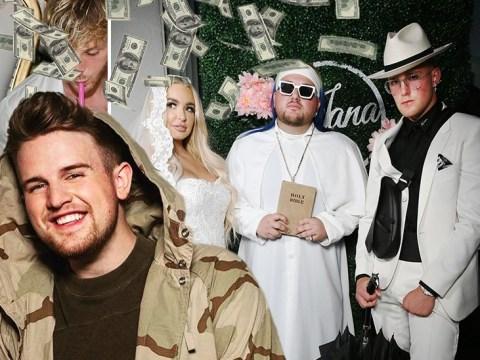 YouTuber Ben Phillips reveals Jake Paul and Tana Mongeau 'easily' earned £1million for wedding