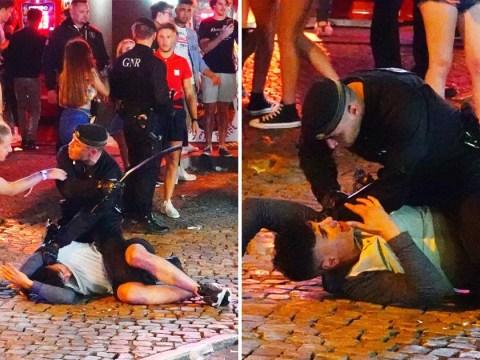 Fed up Portuguese police crack down on drunken British tourists