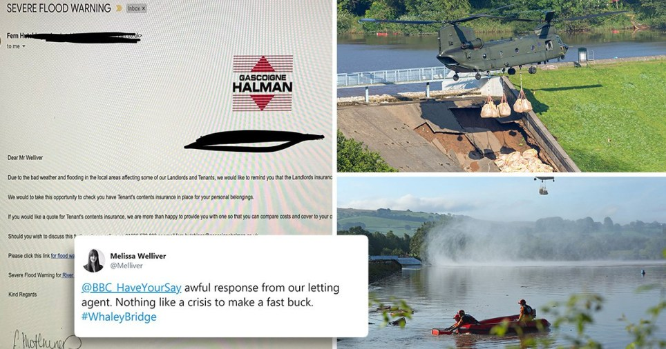 Gascoigne Halman is under fire for offering Whaley Bridge residents home insurance before they were evacuated