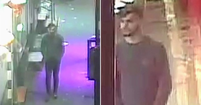 Greater Manchester Police have released CCTV footage in the hopes of finding the attacker who raped a man near Cruz 101
