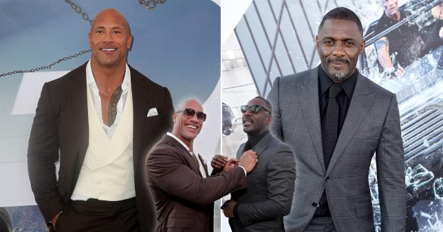 dwayne johnson idris elba