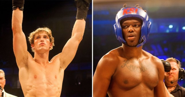 Youtubers KSI and Logan Paul pictured ahead of their boxing rematch