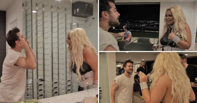 Trisha Paytas and Dominic DeAngelis in The Reality House