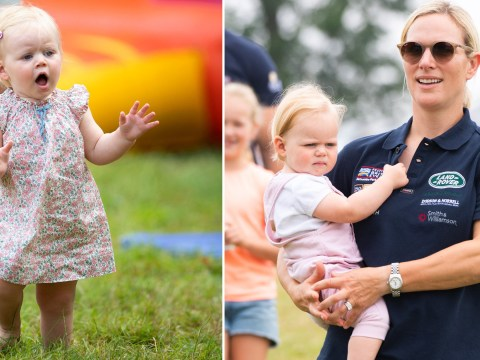 Lena Tindall seen toddling for first time as she joins royal cousins at horse trials
