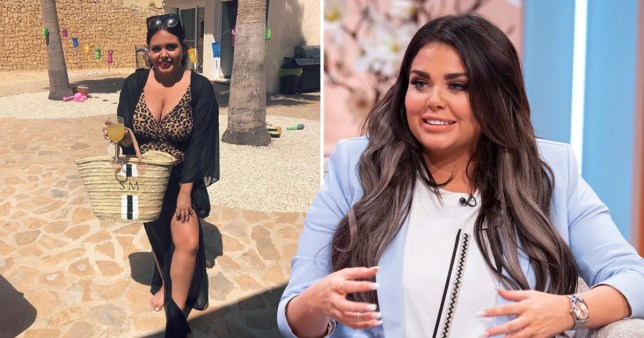 Scarlett Moffatt has no time for insecurities as she enjoys pool party on holiday