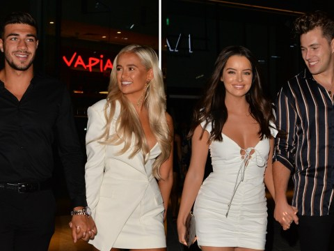 Love Island's Molly-Mae Hague and Tommy Fury hold hands on date night after slamming split rumours