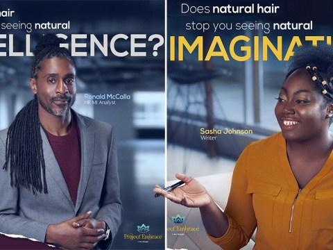 Billboards aim to change stereotype that Afro hair is 'unprofessional'