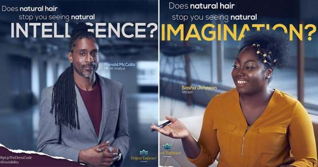 Billboard campaign challenges workplace bias against Afro hair