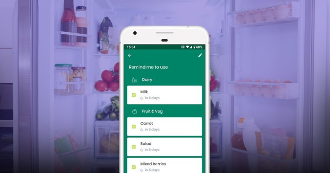 he Kitche app is designed to help families reduce their food waste