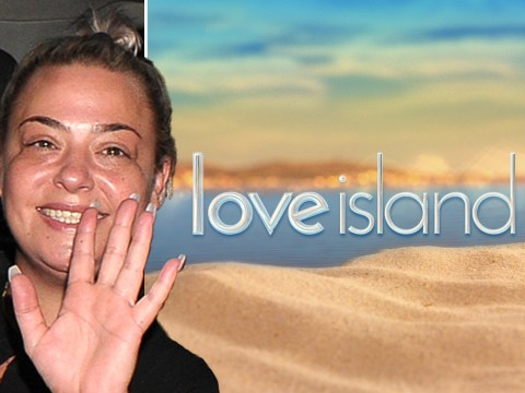 Lisa Armstrong can't stop smiling as she leaves filming for Love Island reunion show