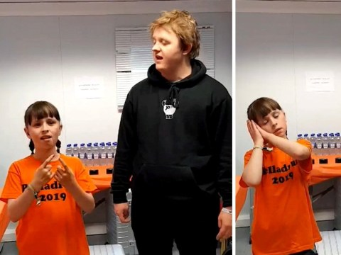 Lewis Capaldi sings with deaf 10 year old fan as she signs in emotional backstage moment