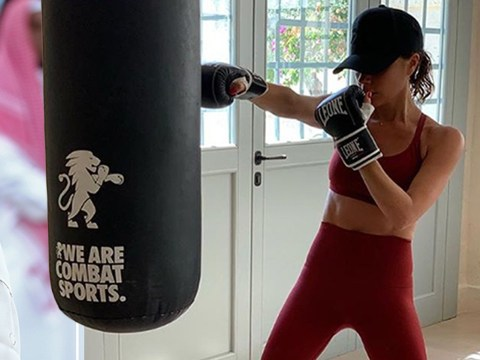 Victoria Beckham packs a punch as she shows off abs in sweaty workout session and new piercings to boot