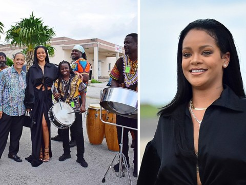 Rihanna is serving looks in all black as she flies home to Barbados for extravagant Crop Over festival