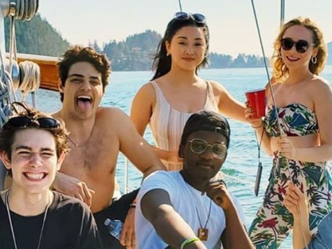 Noah Centineo and Lana Condor are the ultimate BFFs as they hang out together at sea