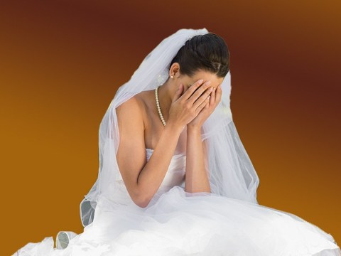 Bride gets diarrhoea from 'health shakes' and ruins £12,000 wedding dress