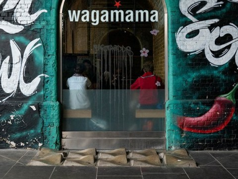 Anti-homeless spikes fitted outside Wagamama spark protests