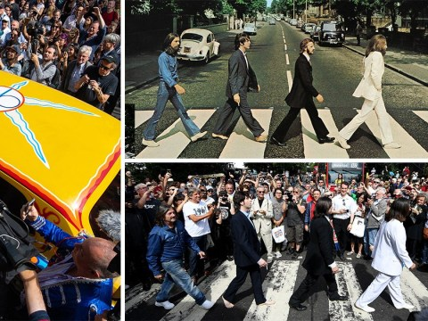 The Beatles fans come together to celebrate 50th anniversary of that iconic Abbey Road picture