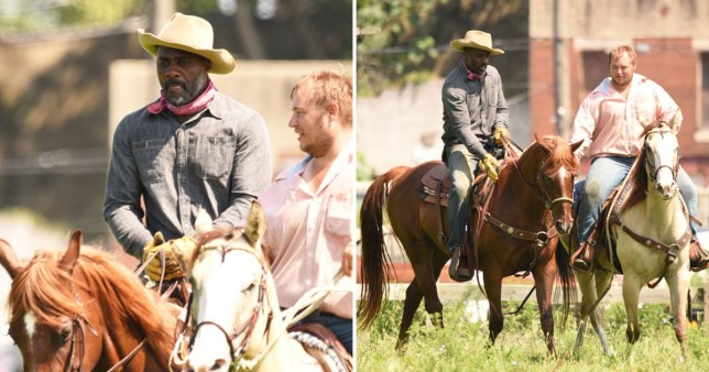 Idris Elba takes horseriding lessons for Ghetto Cowboy movie
