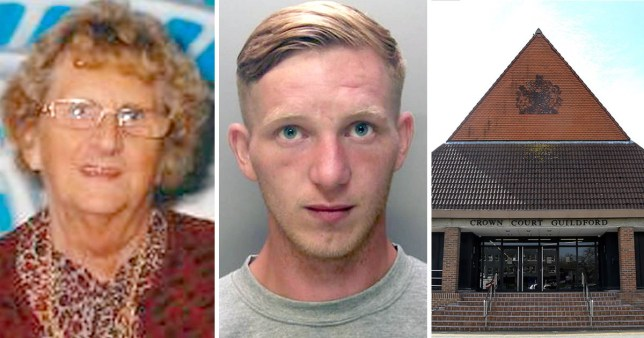 Joyce Burgess, 84, Johnny Brazil, 27, and Guildford Crown Court