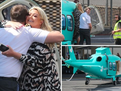 Gemma Collins lives the high life with Deliveroo helicopter ride around London because why not