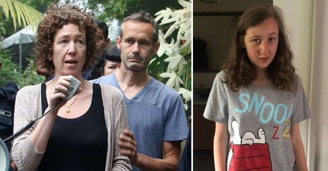 Nora Quoirin's parents gave an emotional statement thanking officials and supporters for searching for their missing daughter (Picture: PA/AFP)