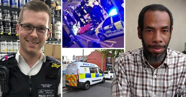 PC Outten, left, was in a critical condition after the alleged attack by Muhammed Rodwan