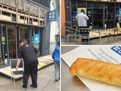 Brothers flattened by falling Gregg's bakery sign during gale-force winds