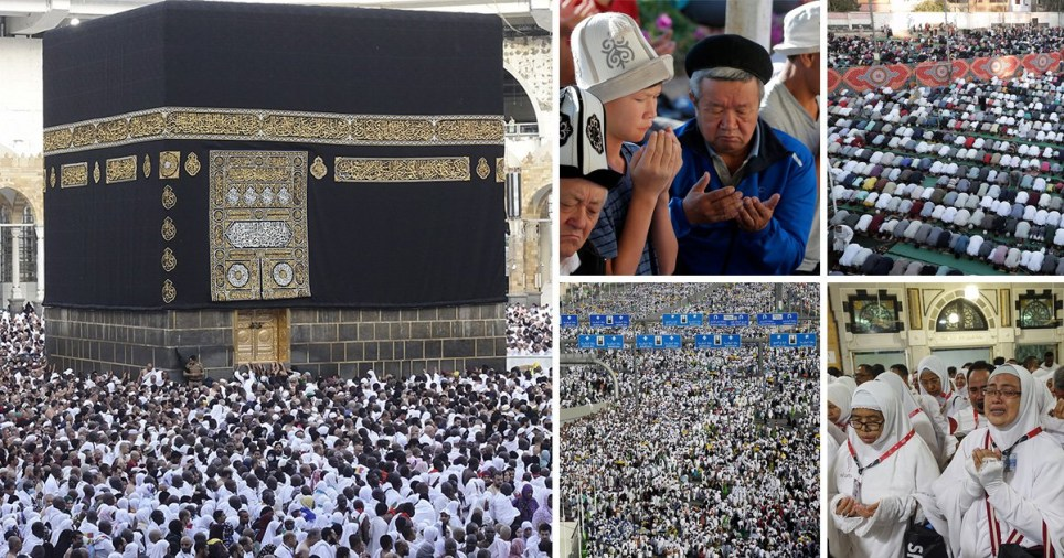 Muslims taking the Hajj pilgrimage in Saudi Arabia