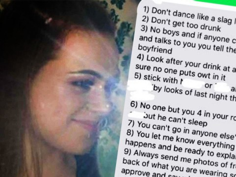 'Toxic' ex sent girlfriend 12 rules for nights out before cheating on her