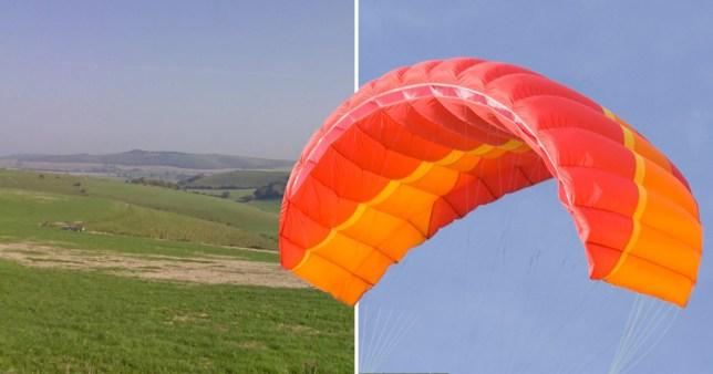 Paraglider plunges to death
