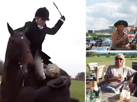 Huntswoman filmed whipping animal rights activists was crushed by her horse