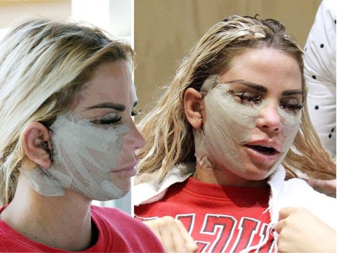 Katie Price looks sore after painful facelift surgery that 'left kids in tears over fears someone had hurt her'
