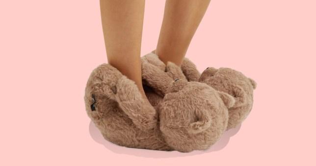 vetements teddy bear slippers