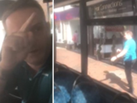 Bus driver storms off after arguing with passenger