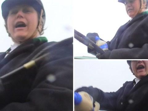 Foxhunter filmed squirting fox urine in elderly protester's face