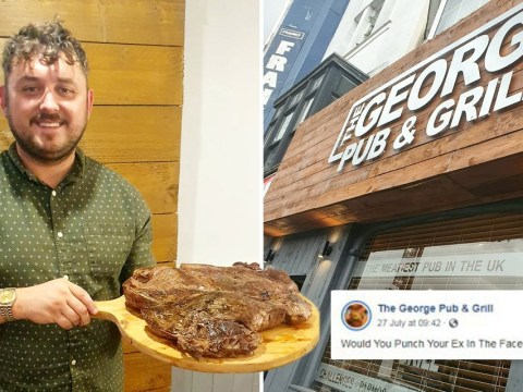'Would you punch your ex for a steak?' pub asks diners