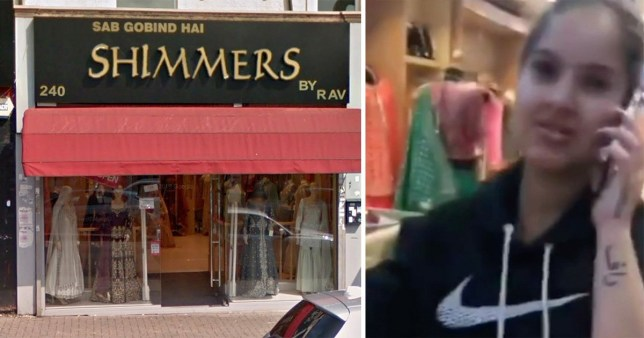Shimmers clothes store (L) An employee (R)