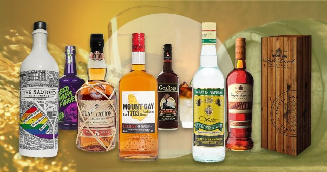 A selection of some of the best rums on the market