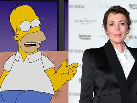 Olivia Colman will fall madly in love with Homer as she joins The Simpsons