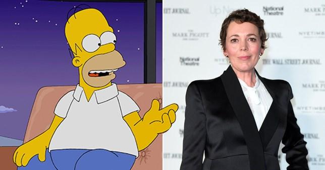 Olivia Colman, Homer Simpson