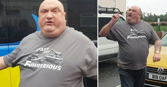 Martin Weaver has been identified as the 'big oaf' driver who launched a foul-mouth rant at a coach driver (Picture: Warrington Guardian/SWNS)
