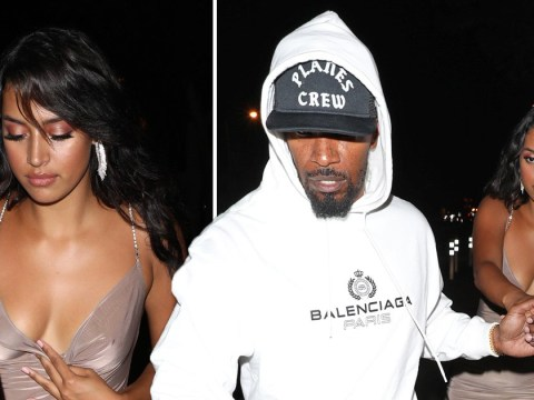 Jamie Foxx parties in Hollywood with up and coming model as Katie Holmes remains in New York