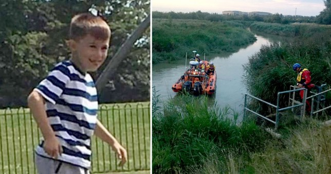 Boy, 6, missing after falling into the River Stour in Kent while fishing with his dad who dived in after him before he vanished
