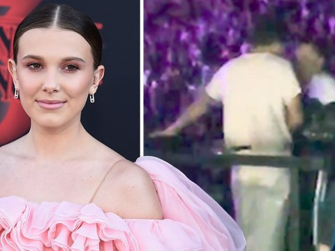 Harry Styles and Millie Bobby Brown dancing together at Ariana Grande's concert is everything