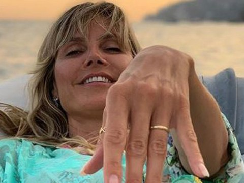 Heidi Klum joyfully flashes wedding ring after marrying Tom Kaulitz for second time in Italy