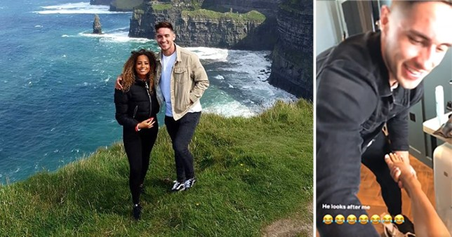 Love Island's Greg O'Shea and Amber Gill